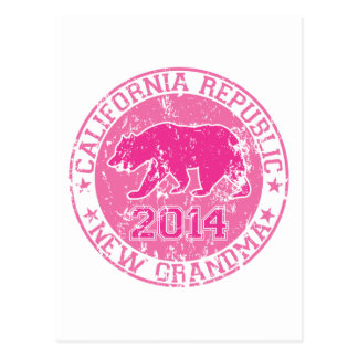 california republic new grandma pink 2014 postcard
