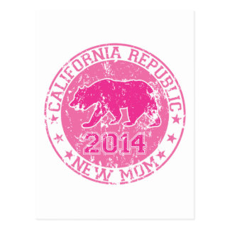 california republic new mom pink 2014 postcard
