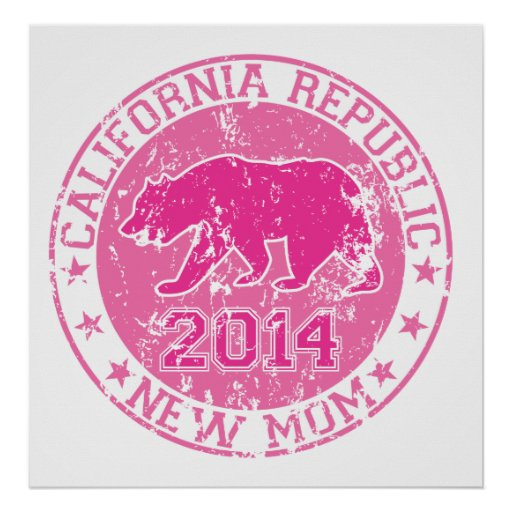 california republic new mom pink 2014 poster