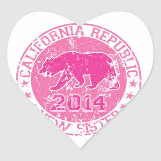 california republic new sister pink 2014 stickers