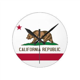 California Republic Round Clock
