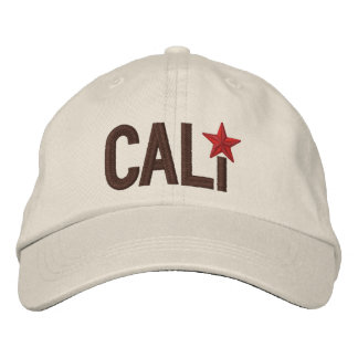 California Republic STAR Embroidery Baseball Cap