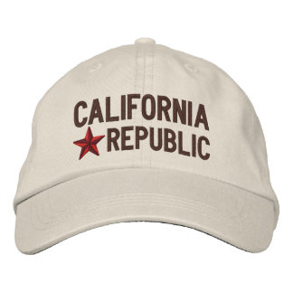 California Republic STAR Embroidery Embroidered Hats