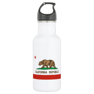 California Republic State Flag 532 Ml Water Bottle