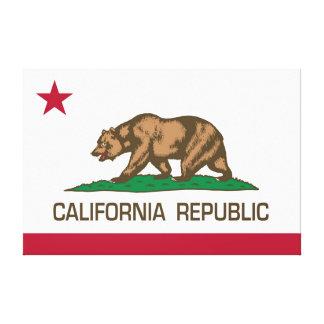California Republic State Flag - Authentic version Gallery Wrapped Canvas
