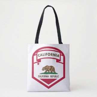 California Republic State flag crest Tote Bag