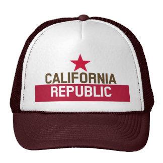 CALIFORNIA REPUBLIC State Flag Fitted Designs Cap