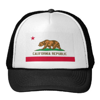 California Republic State Flag Trucker Hats