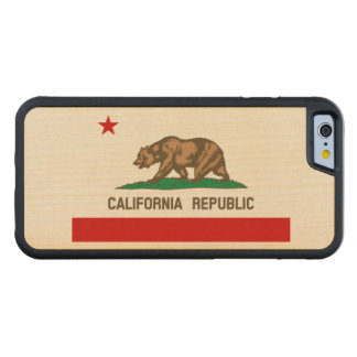 California Republic State Flag Maple iPhone 6 Bumper Case