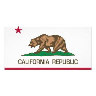 California Republic State Flag Picture Card
