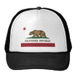 california republic state flag trucker hat
