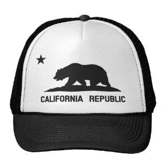 California Republic State Flag Trucker Hat (black)