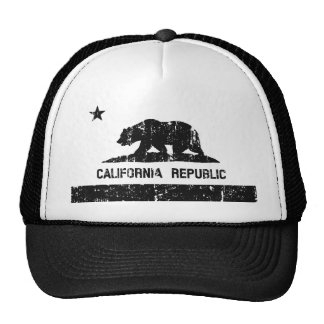 California Republic State Flag Trucker Hat (faded)