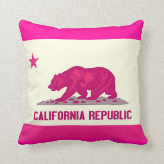 California Republic Throw Pillow