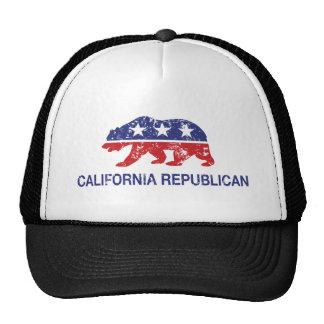 California Republican Bear Distressed Cap