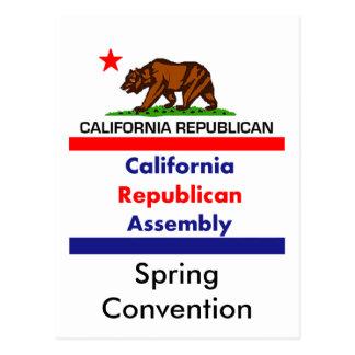 California Republican CRA Postcard