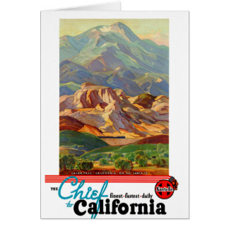 California Restored Vintage Travel Poster Card