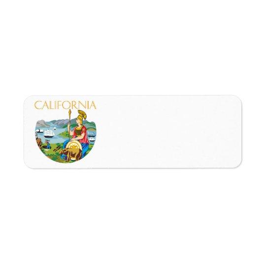 California Return Address Label
