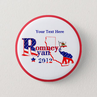 California Romney and Ryan 2012 Button - Customize
