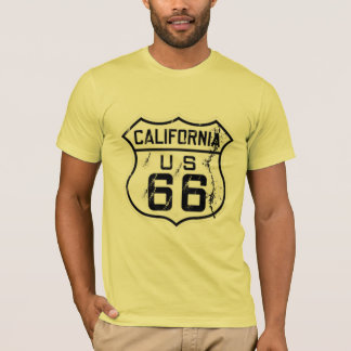 california route-66 historical cool t-shirt design