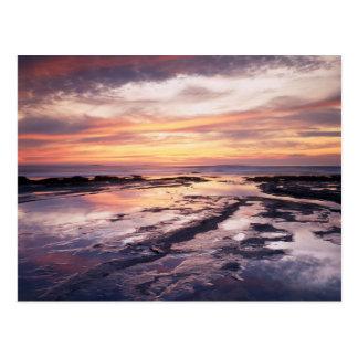 California, San Diego, Sunset Cliffs, Sunset 1 Postcard