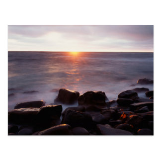 California, San Diego, Sunset Cliffs, Sunset 2 Postcard