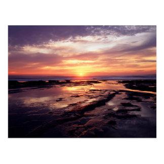 California, San Diego, Sunset Cliffs, Sunset 3 Postcard