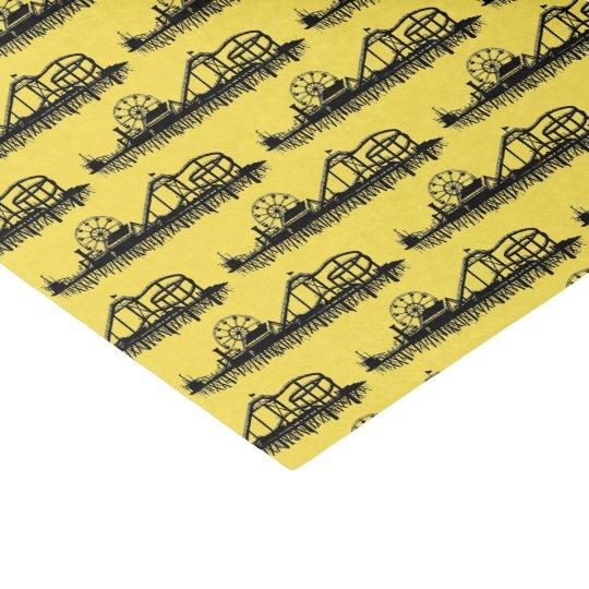 California Santa Monica CA Iconic Pier Silhouette Tissue Paper