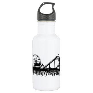 California Santa Monica CA Pier Beach Ferris Wheel 532 Ml Water Bottle