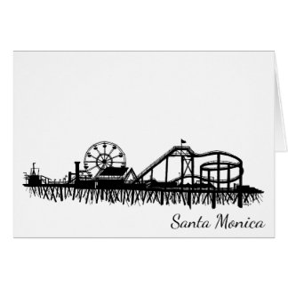 California Santa Monica CA Pier Beach Ferris Wheel Card