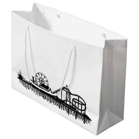 California Santa Monica CA Pier Beach Ferris Wheel Large Gift Bag