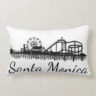 California Santa Monica CA Pier Beach Ferris Wheel Lumbar Cushion