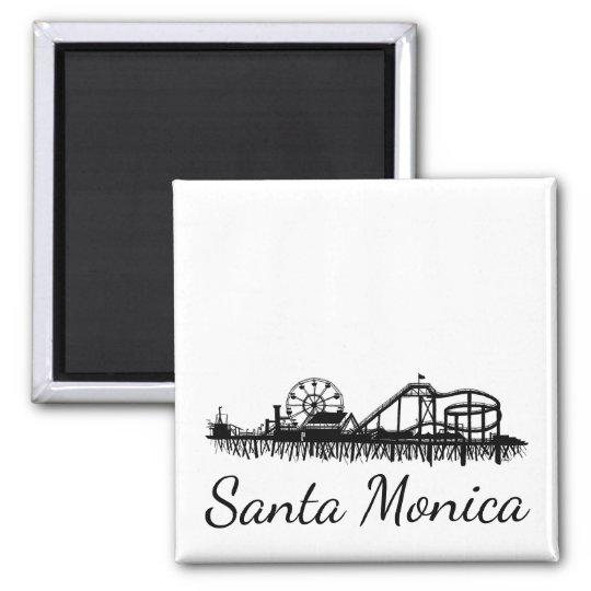 California Santa Monica CA Pier Beach Ferris Wheel Magnet