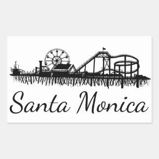 California Santa Monica CA Pier Beach Ferris Wheel Rectangular Sticker