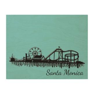 California Santa Monica CA Pier Beach Ferris Wheel Wood Wall Art