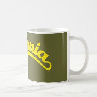 California Script logo in Yellow Coffee Mug