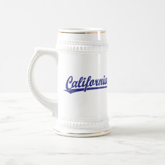 California script logo script logo in blue coffee mug