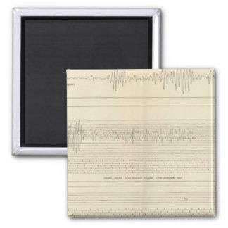 California Seismograms 15 Refrigerator Magnet