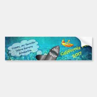 California, Shark And Yellow Banana Submarine Bumper Sticker