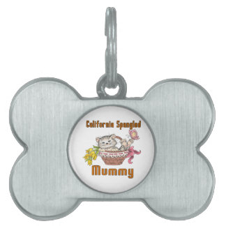 California Spangled Cat Mom Pet Name Tag
