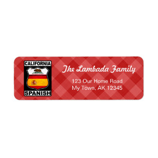 California Spanish American Address Labels