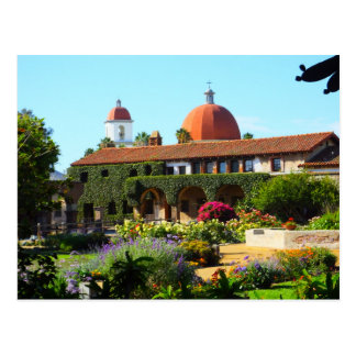 California Spanish Mission Church Postcard