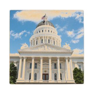 California State Capitol in Sacramento Maple Wood Coaster