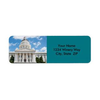 California State Capitol in Sacramento Return Address Label