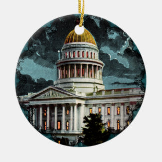 California State Capitol Moonlight Ornament