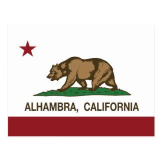 California State Flag Alhambra Postcard