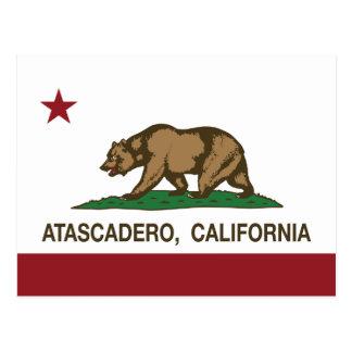 California State Flag Atascadero Postcard