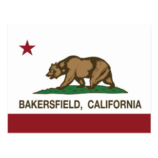 California State Flag Bakersfield Postcard