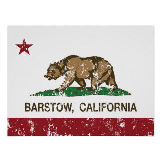 California State Flag Barstow Poster