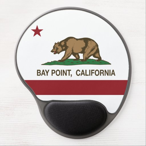 California State Flag Bay Point Gel Mousepads